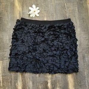 J.crew cute black textured skirt M